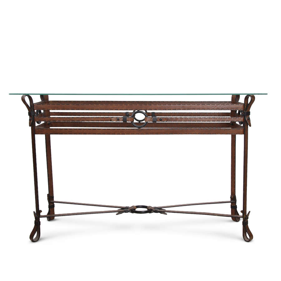 Jacques Adnet Style Console Table, 1970s