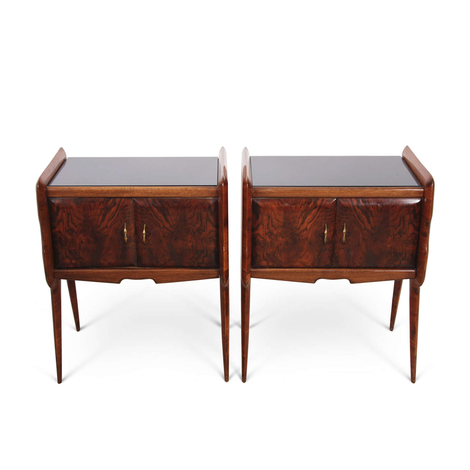 Pair of Borsani Style Bedside Cabinets