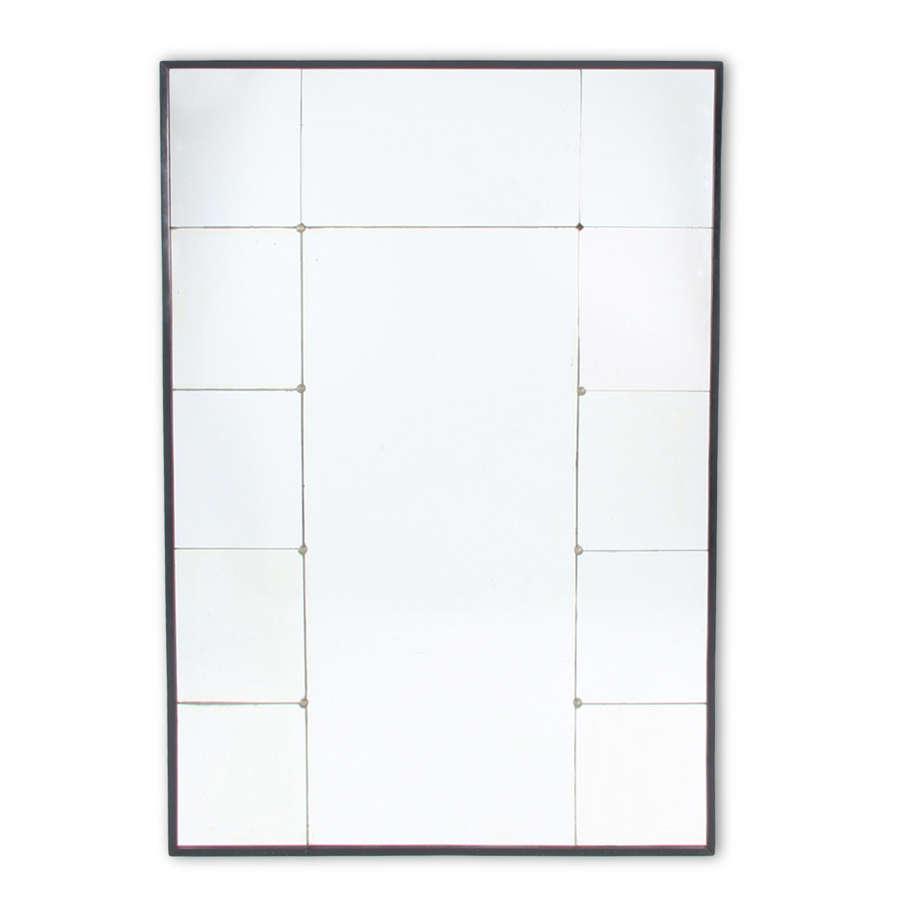 Mid-Twentieth Century Swedish Sectioned Glass Mirror