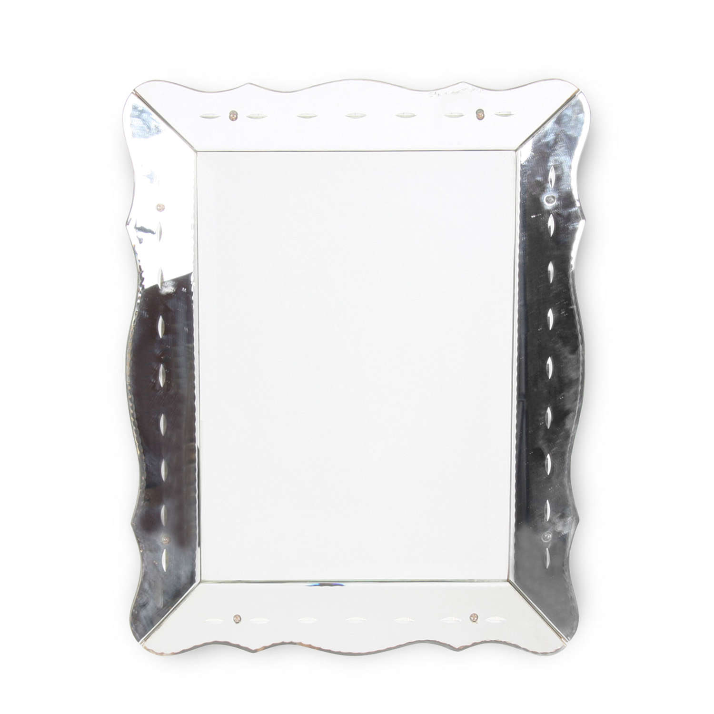 French Mid-Twentieth Century Scalloped Edge 'Venetian' Mirror