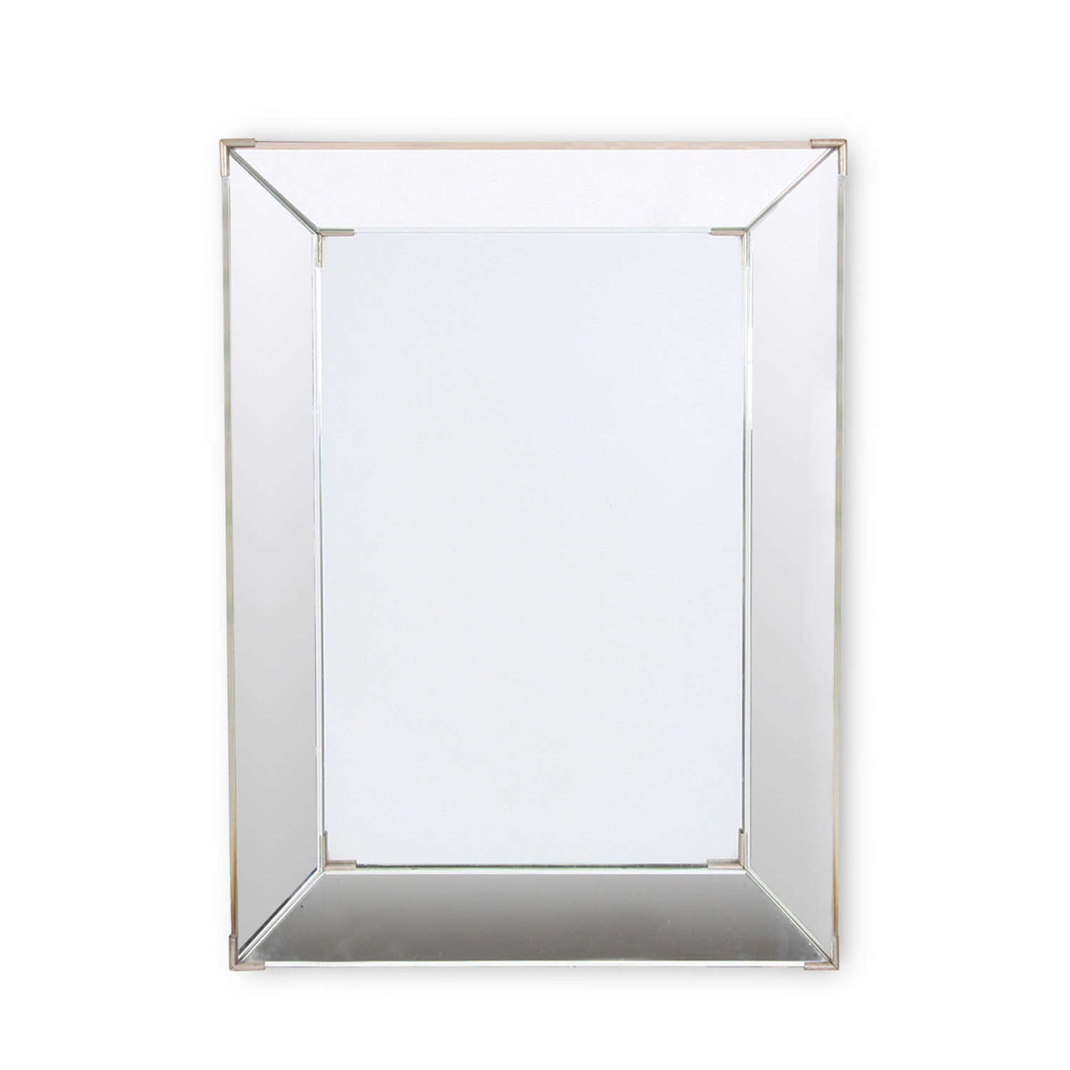 French Mid-Twentieth Century Beveled Glass Mirror