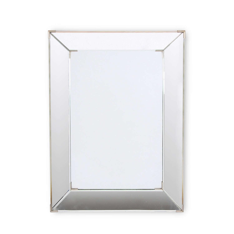 French Mid-Twentieth Century Beveled Glass Mirror