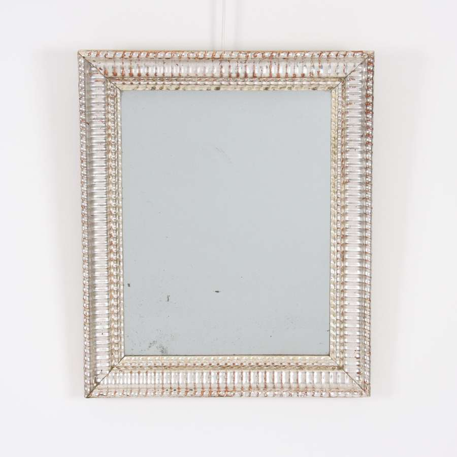 19th Century French Silver Leaf Mirror