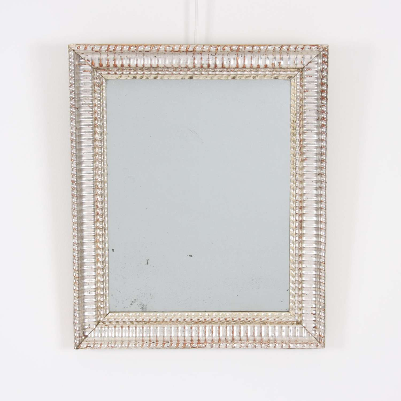 19th Century French Silver Leaf Mirror