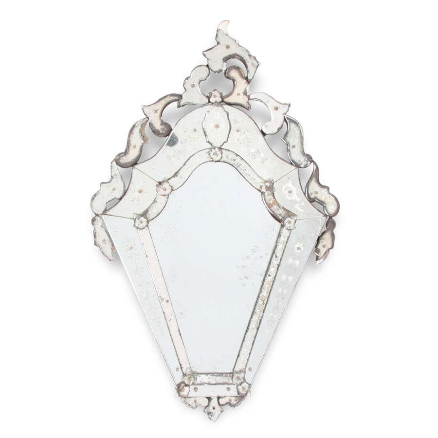 Late 19th Century French 'Venetian' Mirror