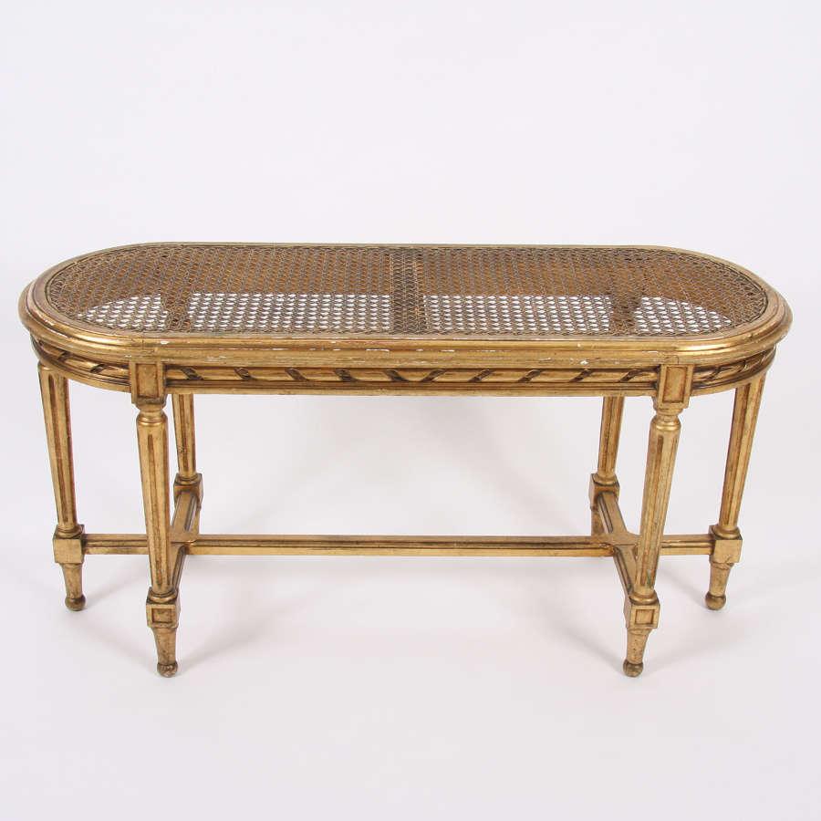 French Early Twentieth Century Giltwood Window Seat