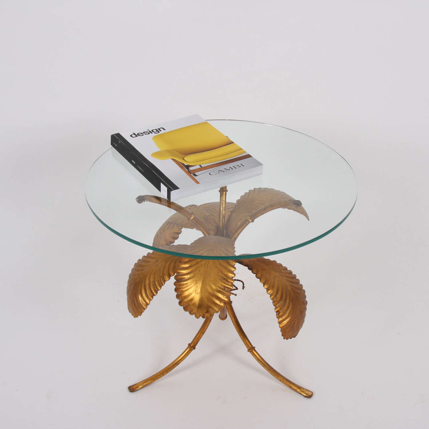 Gilt Palm Tree Side Table by Hans Kögl