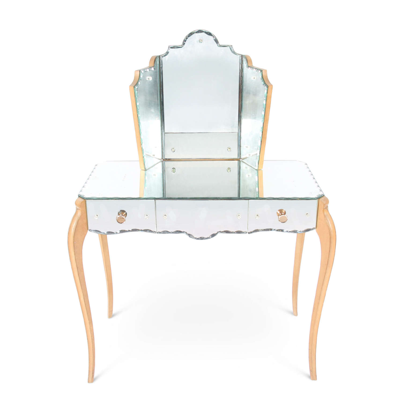 Mid-Twentieth Century French Mirror Dressing Table