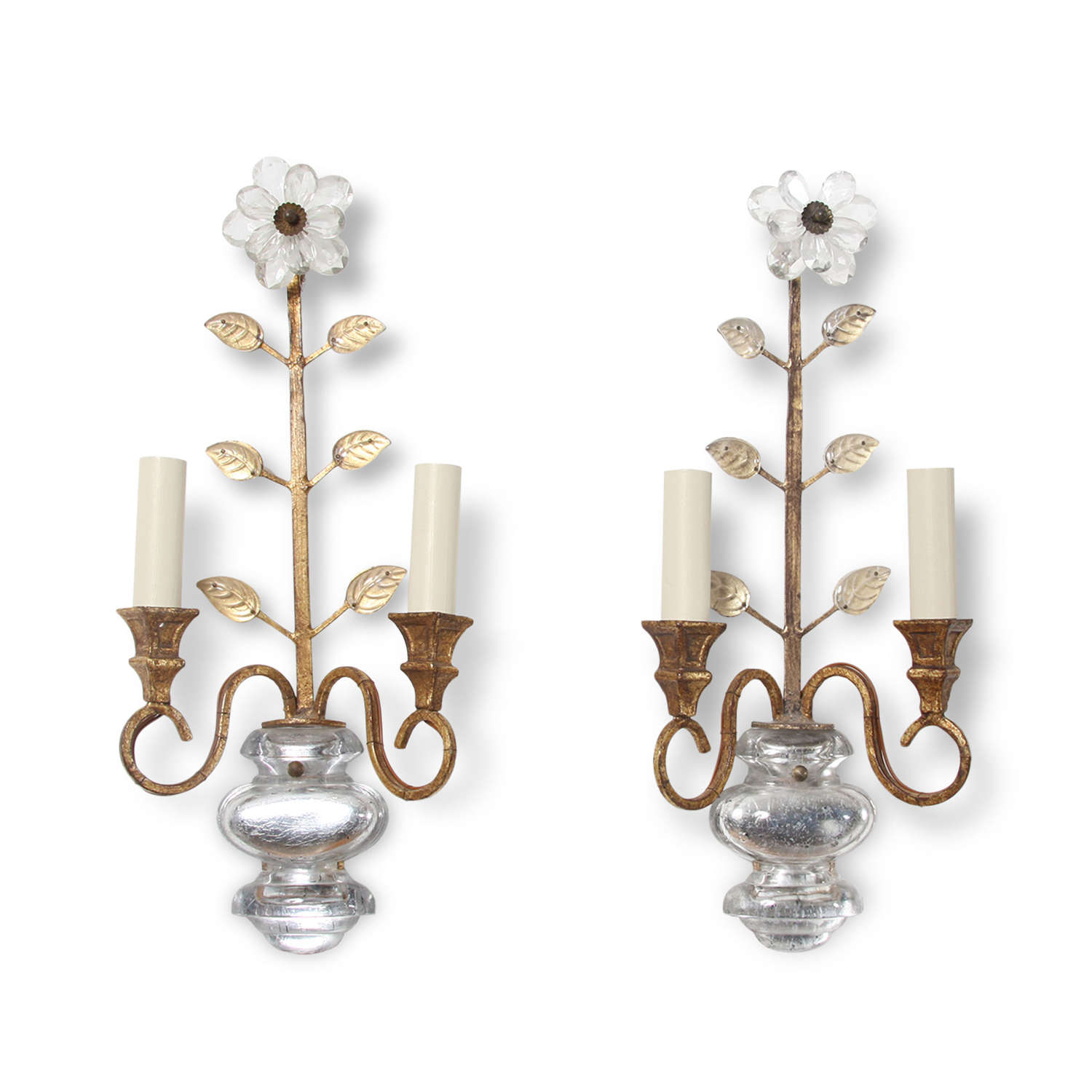 Pair of Mid-Twentieth Century Baguès Style Wall Sconces
