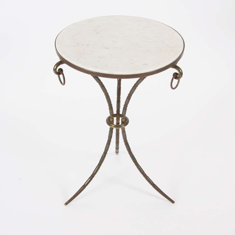 Mid-20th Century French Marble Top Side Table