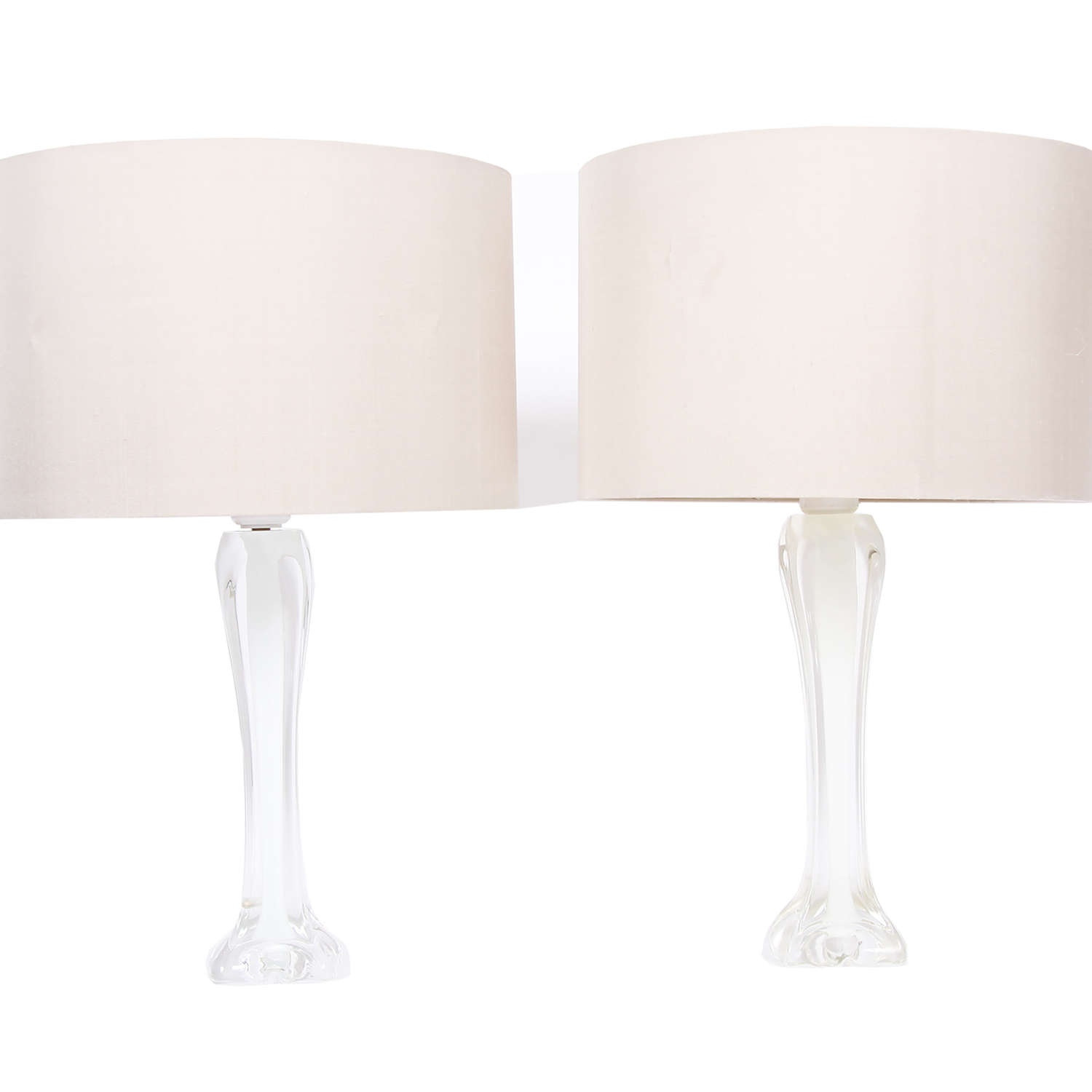 Pair of Swedish White Flygsfors Lamps