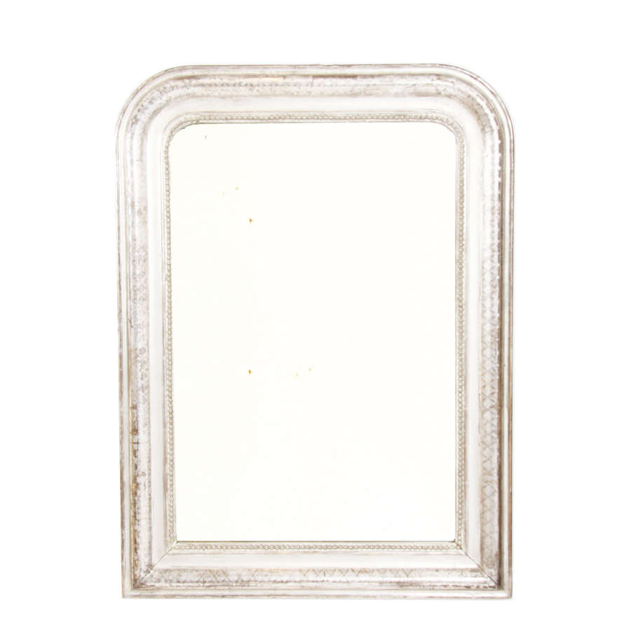 Silver Leaf 19th Century Louis Philippe Mirror