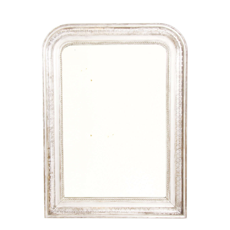 Silver Leaf 19th Century Louis Philippe Mirror