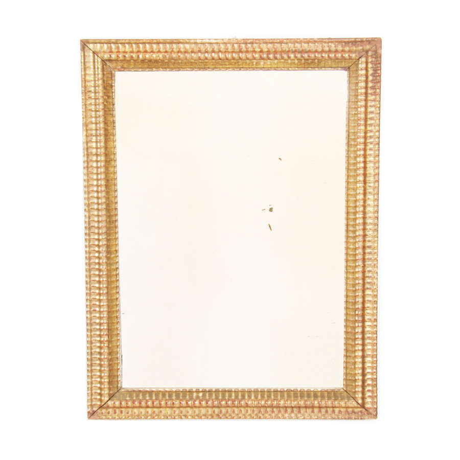 French Giltwood Mirror with Ripple Frame
