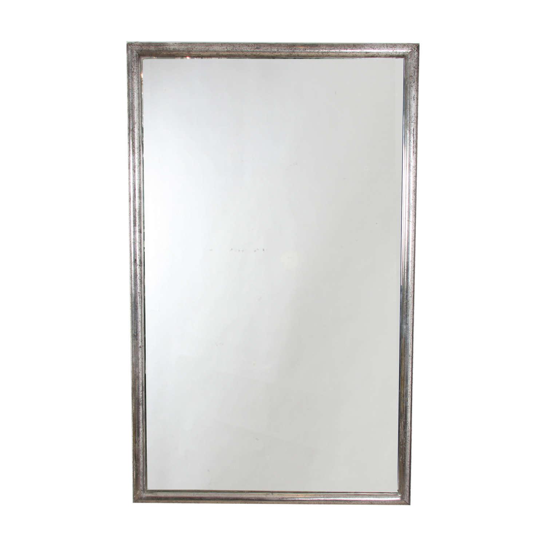 French Silver Leaf Bistro Mirror
