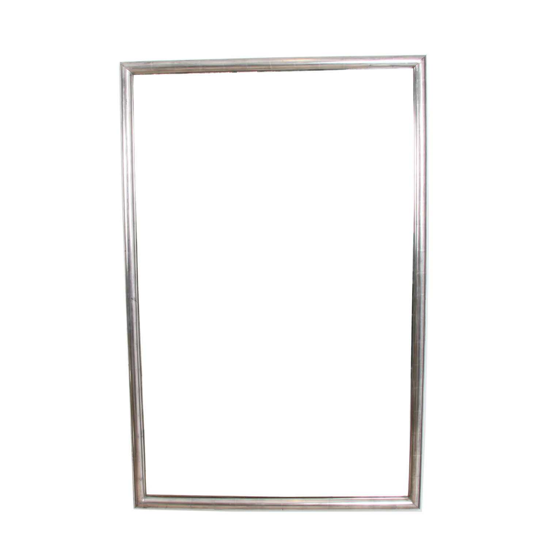 French 1920s Silver Leaf Bistro Mirror