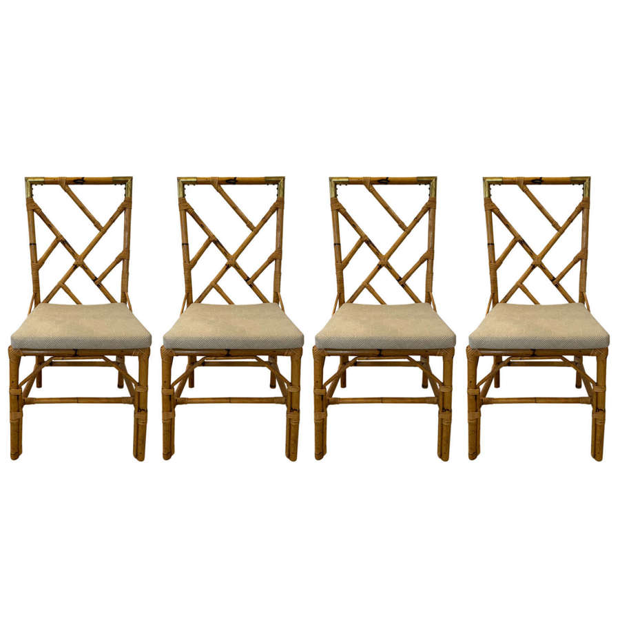 Set of 4 Bamboo Dining Chairs