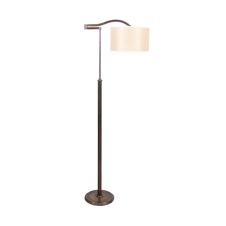 Italian 1950s Adjustable Swing Arm Floor Lamp