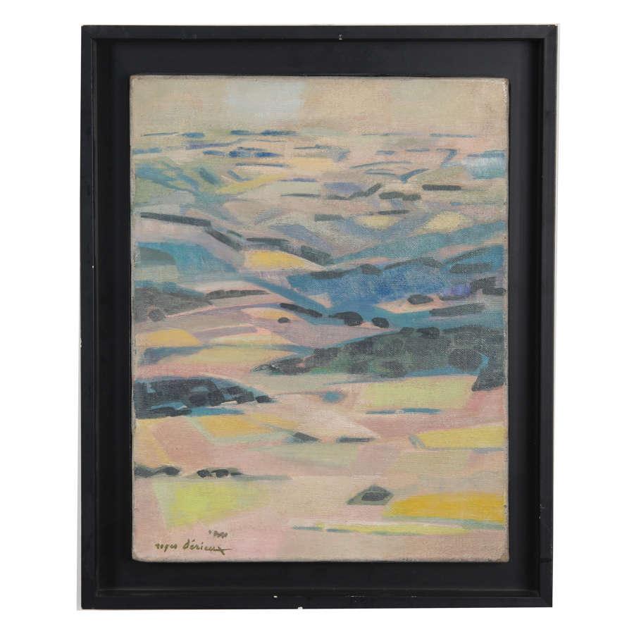 Landscape Oil on Canvas, French artist Roger Derieux (1922-2015)