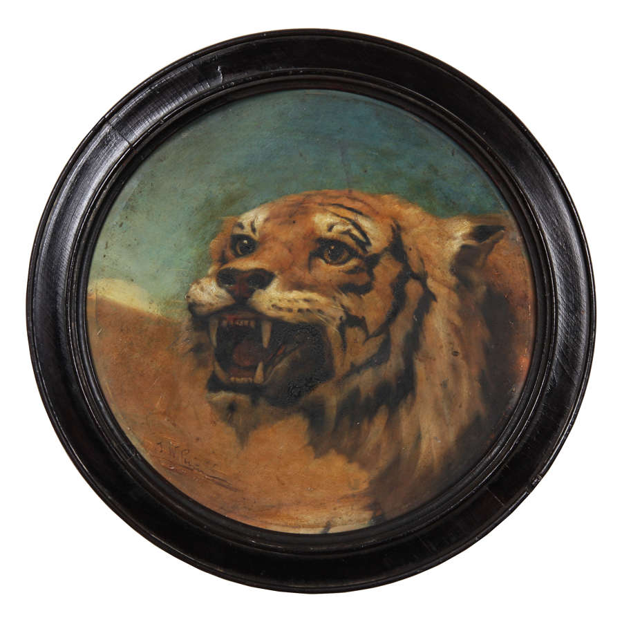 Tiger Oil on Canvas by J W Perrin