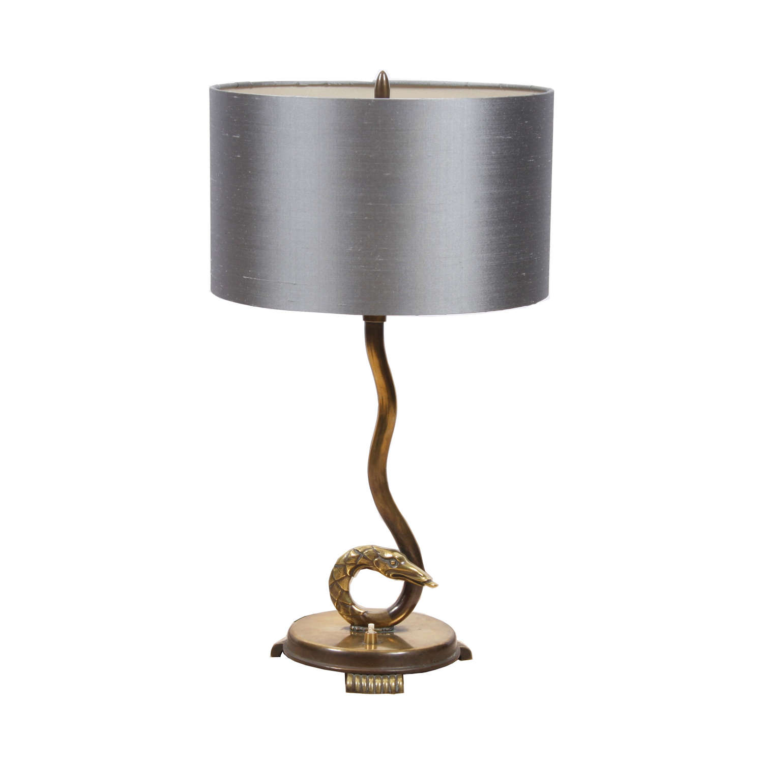 French 1920s Snake Table Lamp