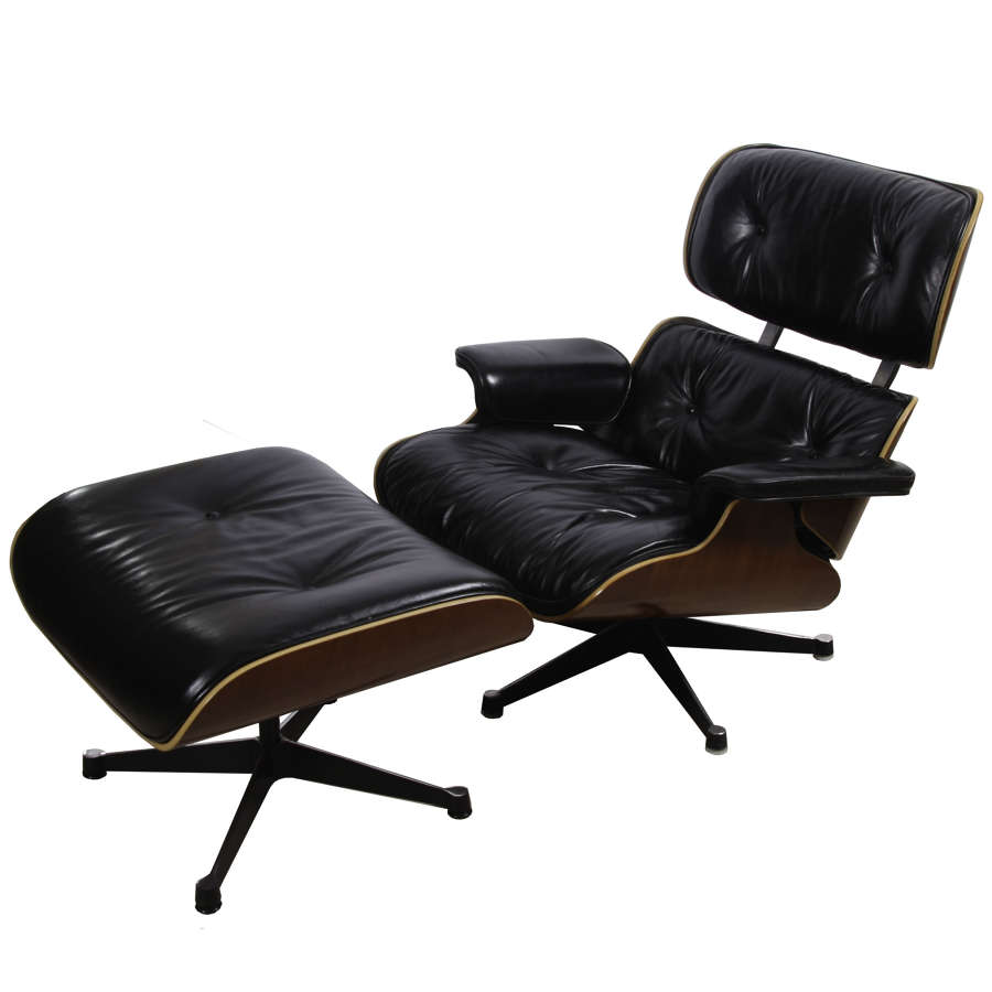 Eames Lounge Chair and Associated Matching Ottoman