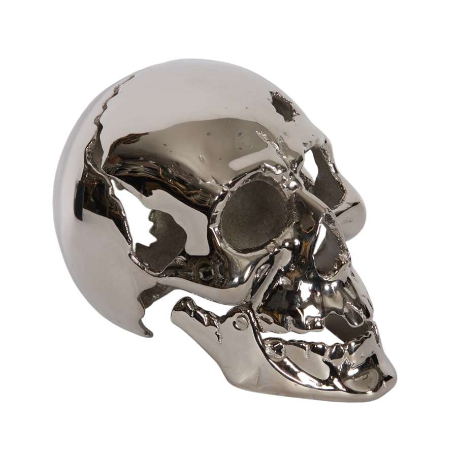 French Nickel Plated 1950s Skull