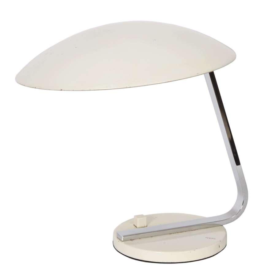 1960s German White Desk Lamp