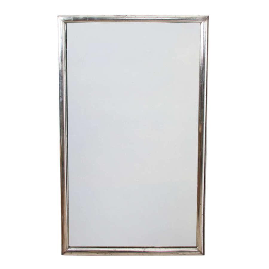 French Silver Leaf Framed Mirror
