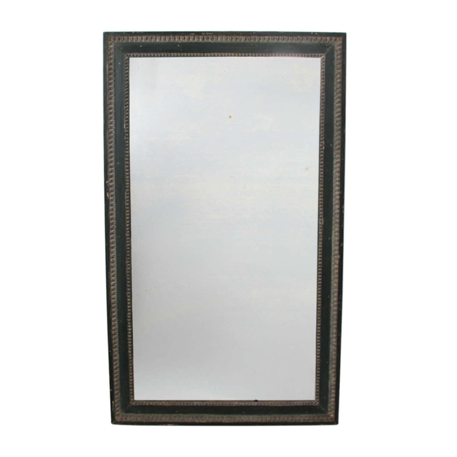 French 19th Century Large Mirror With Original Paint