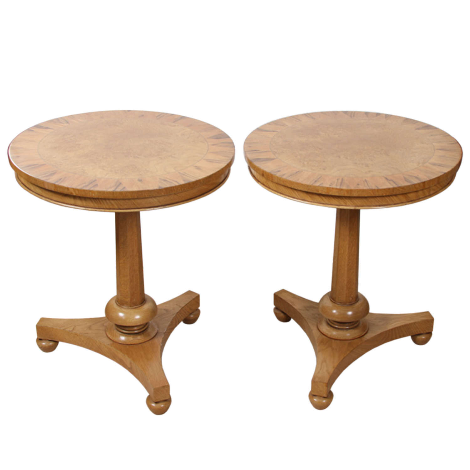 Pair of Mid 19th Century Pedestal Oak Tables