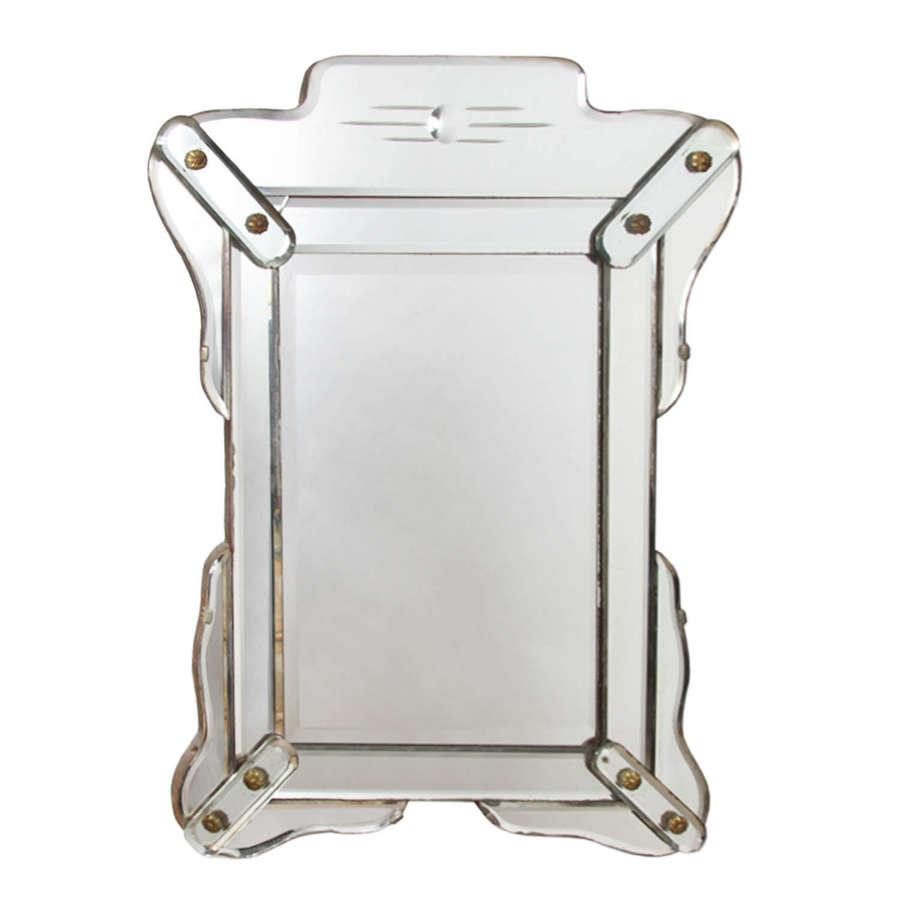Small 1940s Venetian Mirror