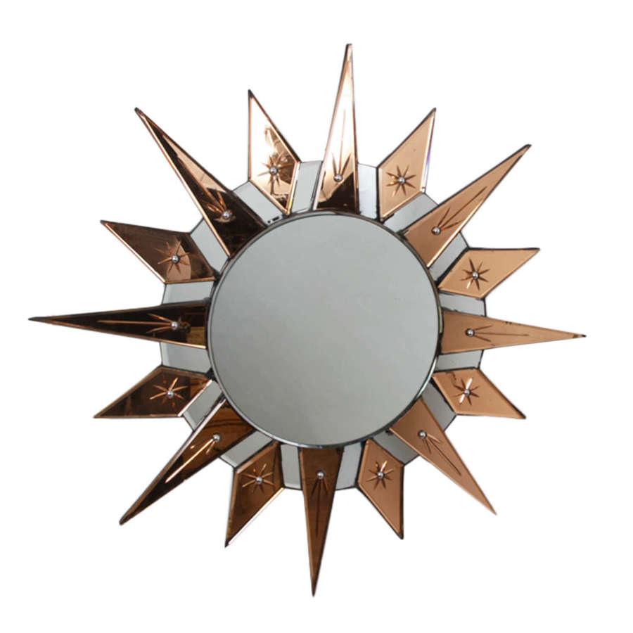 English 1930s Sunburst Mirror