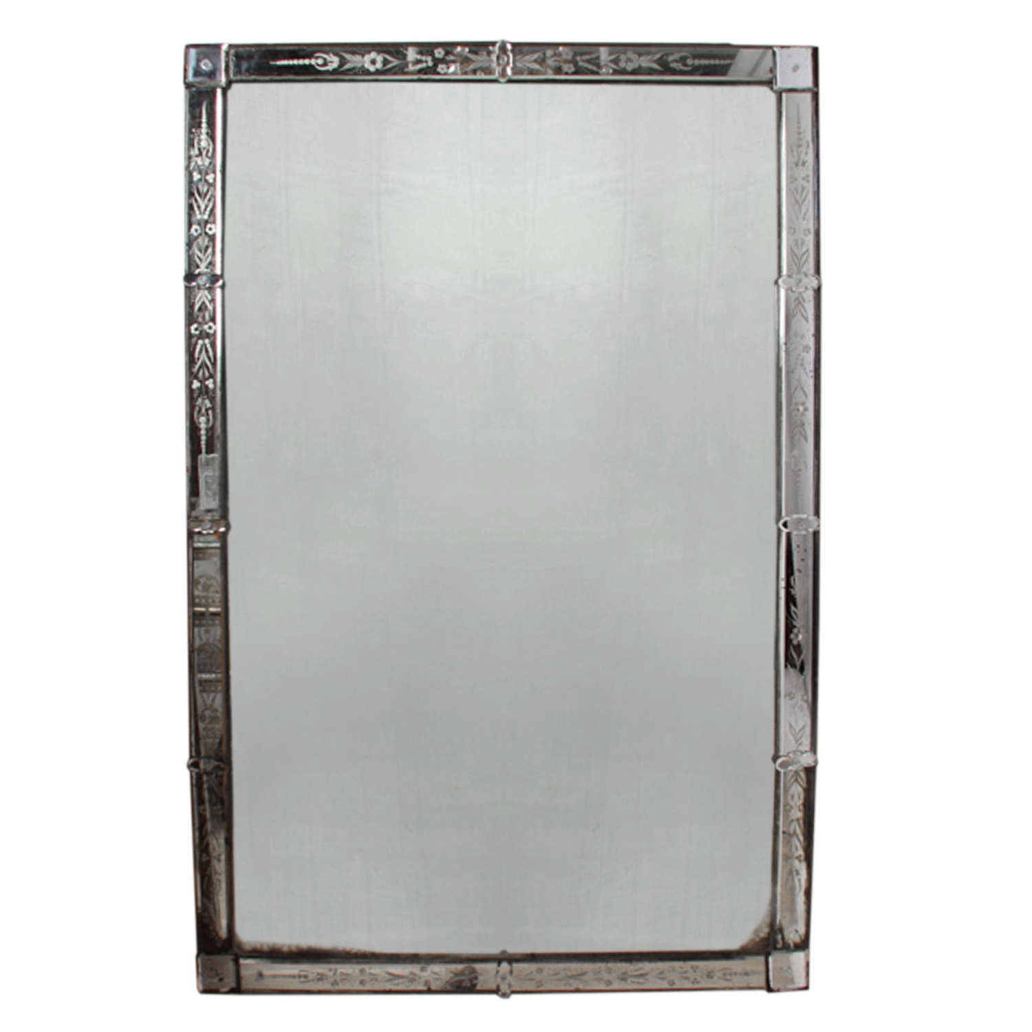 Large French 1920s Venetian Mirror