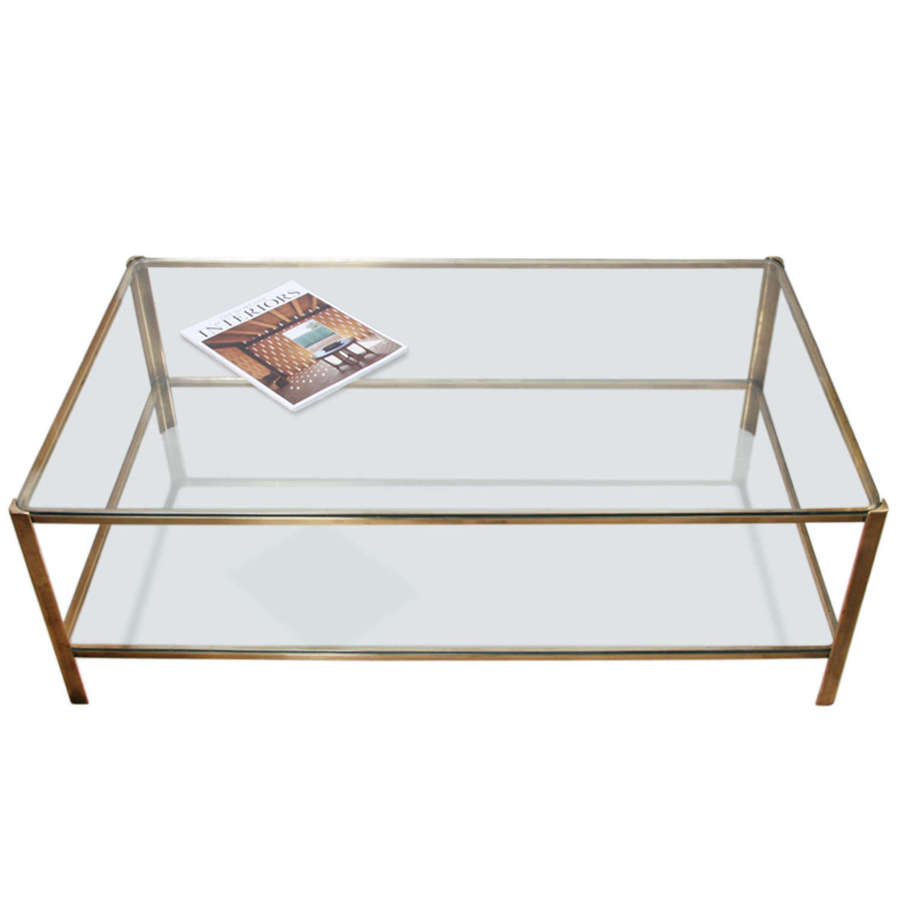 Large Jacques Quinet 1960s Coffee Table