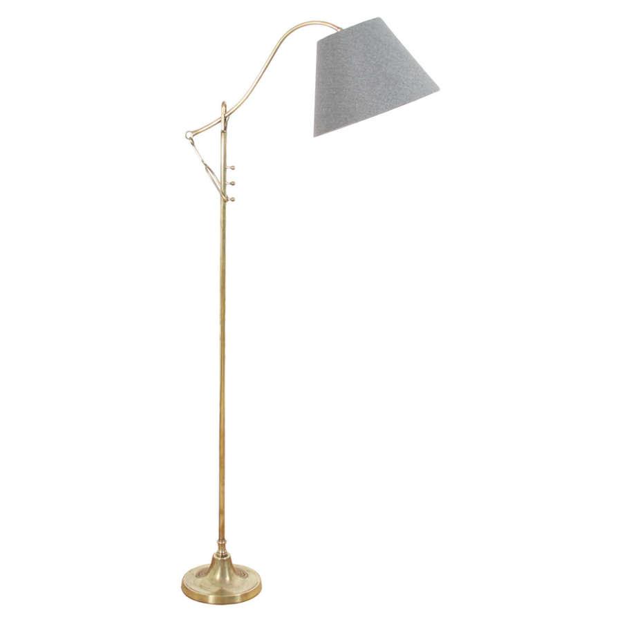 French 1960s Adjustable Brass Floor Lamp