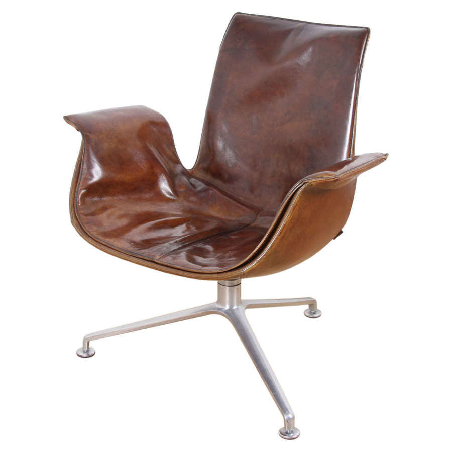 Leather Chair, Designed by Kastholm and Fabricius for Walter Knoll