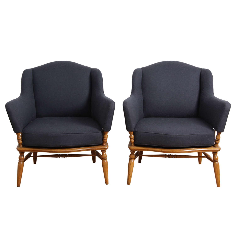 Pair of 1950s Italian Armchairs