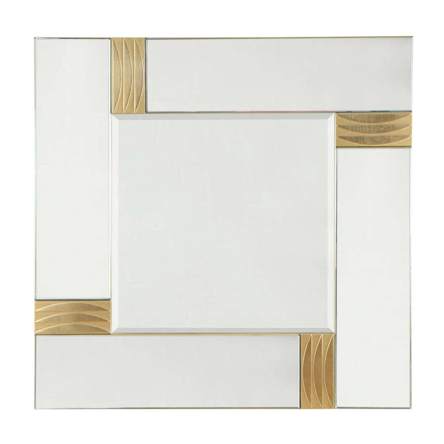 Brass and Glass 1970s Mirror