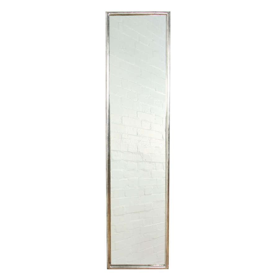 French 1920s Narrow Silver Leaf Mirror