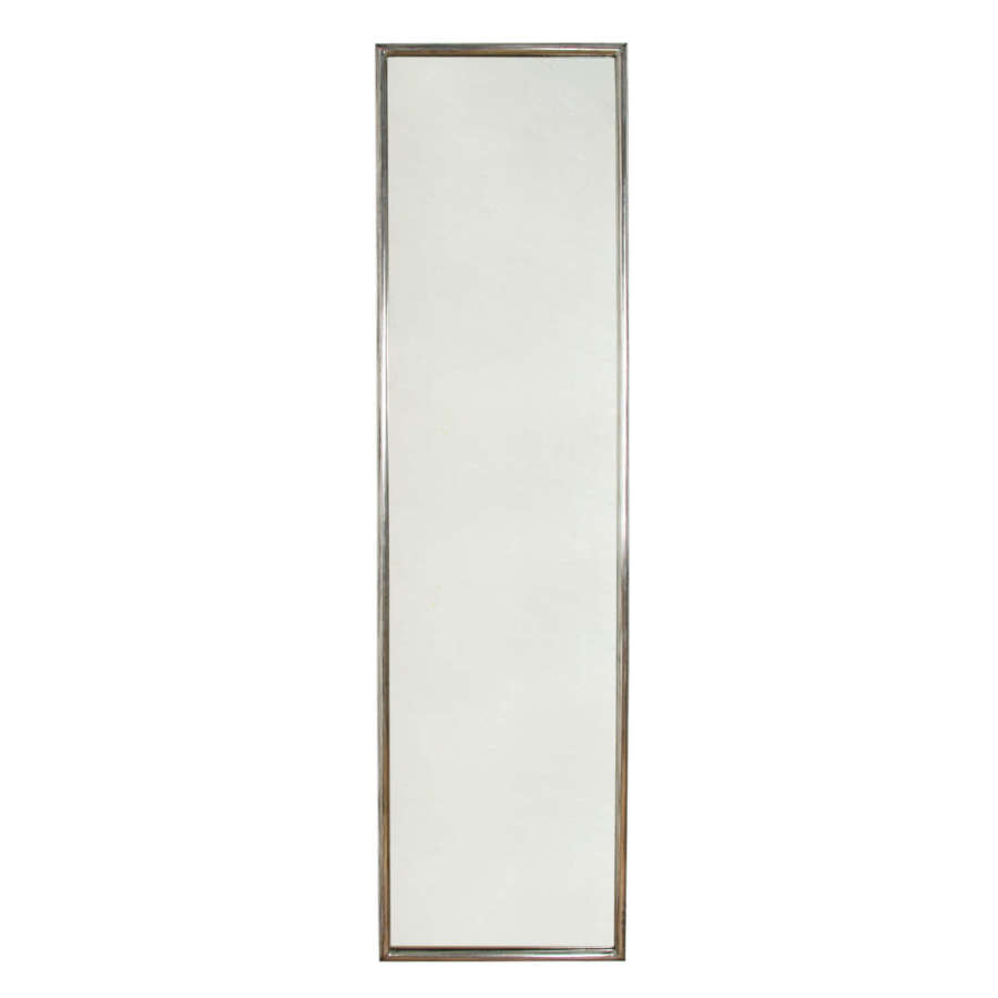Large French 1920s Silver Leaf Mirror
