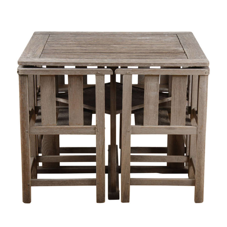 Heal's Style 1960s English Garden Table and Chairs