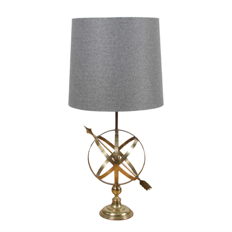 English 1950s Armillary Table Lamp
